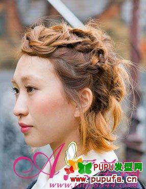 新年相伴v丸子倒数街拍热推丸子长发扎发(3)_淑各种脸型的图片头发型图片