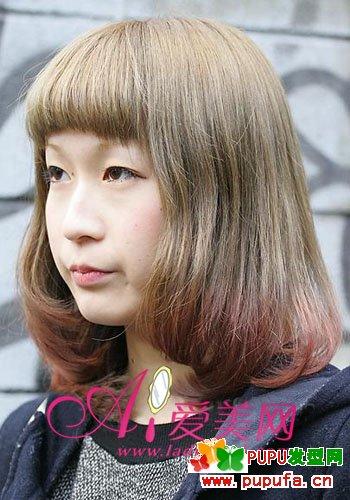 最适合春天的梨花头发型 日系中长发发型设计图片